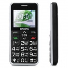 "DaXian I100 Old Senior GSM Bar Phone w/ 2.0"" Screen, Quad-Band, Dual-SIM and FM - Black + Silver"