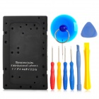 8-in-1 Professional Disassembly Open Repairing Tools for Iphone - Blue + Red + Yellow