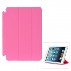 Protective PU Leather Flip-Open Smart Cover Case for iPad Mini - Pink