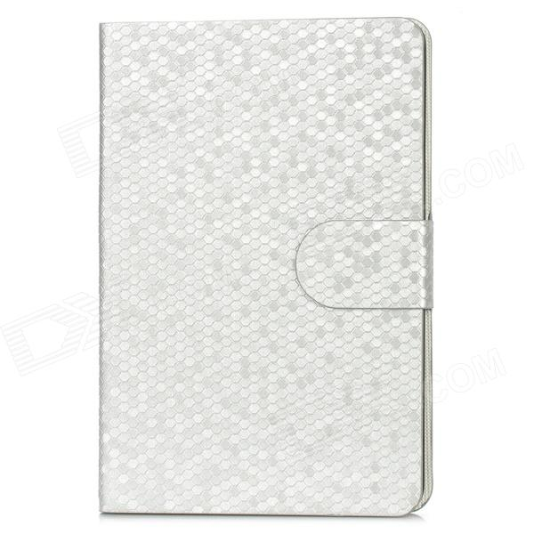 Protective PU Leather Flip-Open Smart Case for Ipad MINI - Silver nice soft silicone back magnetic smart pu leather case for apple 2017 ipad air 1 cover new slim thin flip tpu protective case