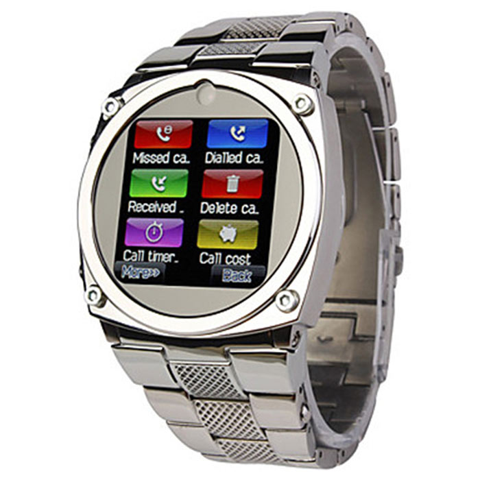 TW818 Water Resitant 1.4 GSM Wrist Watch Phone w/ 1.3MP Camera / Quad-Band / Bluetooth - Silver