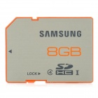 Genuine Samsung MB-SP8GB Class 4 SDHC Card - Silver + Orange (8GB)