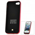 Externe 2000mAh Emergency Power Battery Charger Case für iPhone 5 - Red + Black