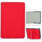 Protective PU Leather Flip-Open Case for Ipad MINI - Red
