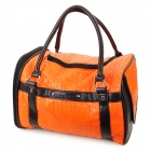 MAXIPA mxp-13018 Outdoor PU Leather Pet Bag - Brown + Orange