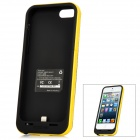 MOPOWER External 2200mAh Emergency Power Battery Charger Back Case for iPhone 5 - Black + Yellow