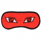 Cool Eyes Style Cosplay Soft Plush Eyeshade - Red + Black