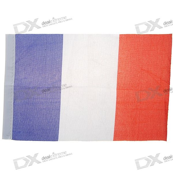 National Flag of France - 21.5cm Size (2-Pack)