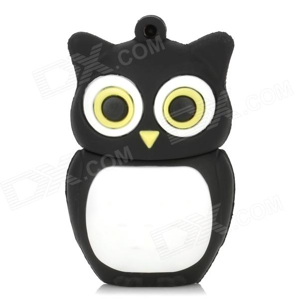 Owl estilo USB 2.0 Flash Drive - Negro + Blanco (16 GB)