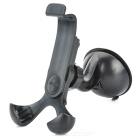 360 Degrees Rotation Car Desk Suction Cup Mount Holder Stand for Iphone / Samsung / HTC - Black