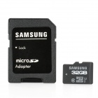 Genuine Samsung microSDHCI-32G Class 10 Micro SDHC TF Card w/ Adapter - Black (32GB)