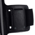 Protective Neoprene Sports Armband w/ Keyhole for Iphone 5 - Black