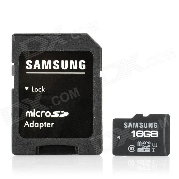 Genuine Samsung microSDHC-16G-C10 Class 10 Micro SDHC TF Card w/ Adapter - Black (16GB) ce emc lvd fcc ozonizer for disinfecting vegetables