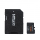 Genuine Samsung TF16G-48M Class 6 Micro SDHC TF Card w/ TF to SD Card Adapter - Black (16GB)