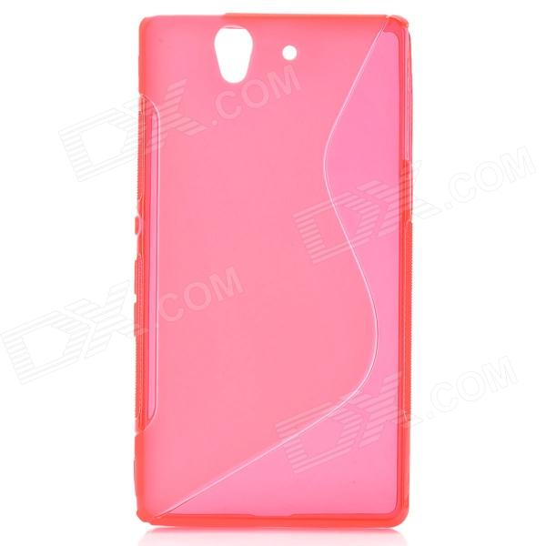S-Line Protective TPU Soft Back Case for Sony L36H Xperia Z C6603 C660X L36i Yuga - Red