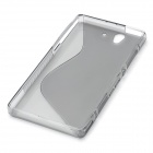 S-Line Protective TPU Soft Back Case for Sony L36H Xperia Z C6603 C660X L36i Yuga - Grey