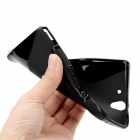 S-Line Protective TPU Soft Back Case for Sony L36H Xperia Z C6603 C660X L36i Yuga - Black