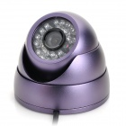 HIET-350LR 3.6mm 420TVL Waterproof Security CCTV Camera w/ 24-IR LED Night Vision - Purple