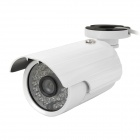 HIET-640LR 6mm 420TVL Waterproof Security CCTV Camera w/ 36-IR LED Night Vision - White
