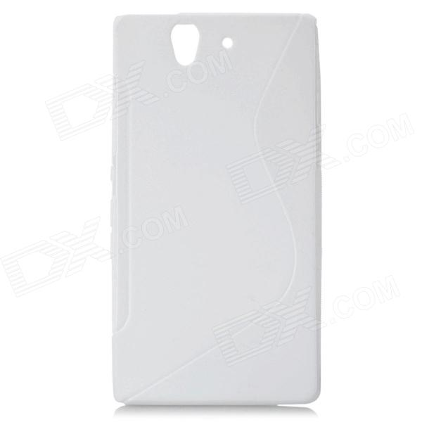 S-Line Protective TPU Soft Back Case for Sony L36H Xperia Z C6603 C660X L36i Yuga - White