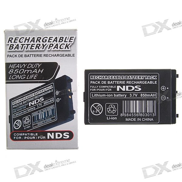 Replacement 840mAh Rechargeable Lithium Battery Pack with Screwdriver for NDS