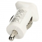 Dual USB Car Power Adapter Charger for IPHONE / IPOD / IPAD - White