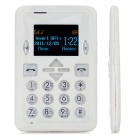 "M1 Super Slim GSM Card Phone w/ 1.4"" Screen, Dual-Band and Single-SIM - White"