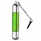 2-en-1 de la pantalla capacitiva Stylus Pen + Bolígrafo w / Audio anti-polvo enchufe para Iphone - Verde