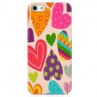Love Heart Style Protective Plastic Back Case for Iphone 5 - Multicolor