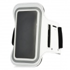Protective Neoprene Sports Armband w/ Keyhole for Iphone 5 - White