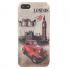 Retro London Street Car Style Protective Plastic Back Case for iPhone 5 - Red