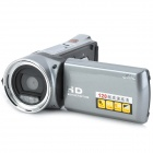 "OMG HDV-5162 2.7"" TFT 5MP CMOS HD Digital Camera Camcorder w/ 4X Digital Zoom - Silver Grey + Black"