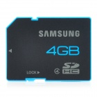 Genuine Samsung MB-SS4GB CLASS 4 Micro SDHC Card - Black + Blue (4GB)