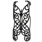 Protective Butterfly Hollow-Out Plastic Case for iPhone 5 - Black