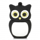 Cute Owl Style USB 2.0 Flash Drive - Black + White (4GB)