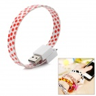 Bracelet Style Micro USB 5-Pin Male to USB 2.0 Male Data Sync / Charging Cable - White + Red (25cm)