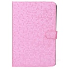Diamond Pattern Protective PU Leather Case for Ipad MINI - Pink