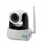 LOOSAFE LS-ID002A 720P 1.0MP IR Wireless HD Network Camera w/ SD / Antenna / 11-LED - Black + White