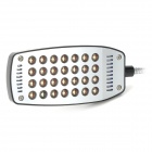 5W 28-LED grapa-on lámpara de escritorio de luz blanca-Negro