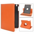 Lychee Pattern Protective 360 Degree Rotating PU Leather Case for Ipad MINI - Orange