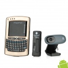 iPazzPort 1080P Android 4.0 Network Media Player w/ Voice Remote Control / Camera / TF - Black (32G)