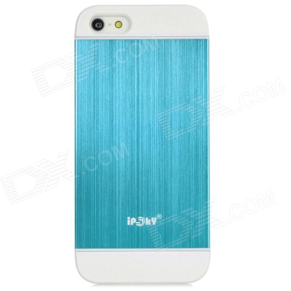 Protective Detachable PC + Aluminum Alloy Case for Iphone 5 / 5s - White + Blue