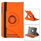 Protective Rotation Carbon Fiber Cloth Case w/ Stylus for Google Nexus 7 - Orange