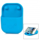 Z-045 Angrymon Smartphone Analogue Woofer Cradle for iPhone 4 / 4S / 5 - Blue