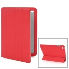 Protective PU Leather Case w/ Smart Cover for iPad Mini - Red