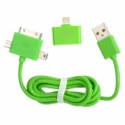 30-Pin Female to Lightning 8-Pin Male Adapter + USB Male to Mini USB / Micro USB / 30-Pin Cable Set