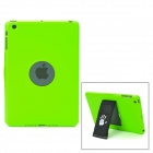 Protective Plastic Case w/ 360 Degree Rotating Hand Strap for iPad Mini - Green