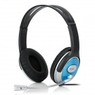 LUPUSS LPS-1503 Headset Headphones w/ Microphone - Light Blue + Silver + Black (193cm-Cable)