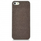 Protective Electroplating Glitter Effect Plastic Case for Iphone 5 - Taupe + Silver