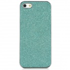 Protective Electroplating Glitter Effect Plastic Case for Iphone 5 - Mint Greenish Blue + Grey